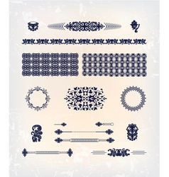 Set of abstract decor pattern design vector