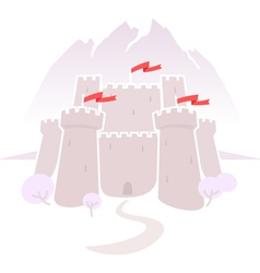 Castle in the mountains vector