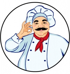Happy chef vector