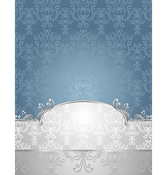 Set seamless pattern in victorian style blue and s vector