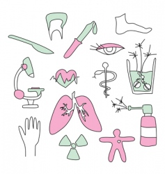 Collection of medical signs vector