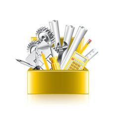 Engineer tools box isolate vector