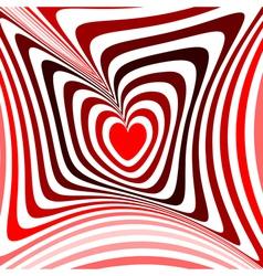 Design heart twisting movement background vector