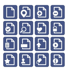 File management icons set vector