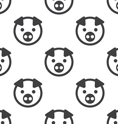Pig seamless pattern vector