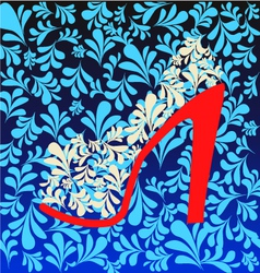 Background of high heel shoes on beautiful vector