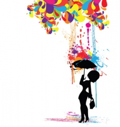 Colorful rain vector