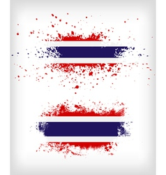 Grunge thai ink splattered flag vector