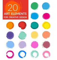 Circle paint drops set vector
