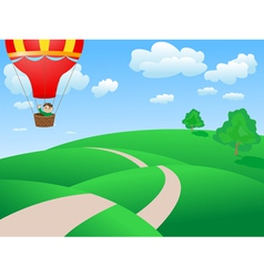 Landscape balloon vector