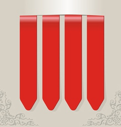 Stick color red vector