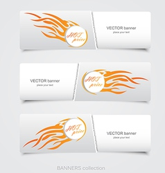 Riped abstract banner 2 vector