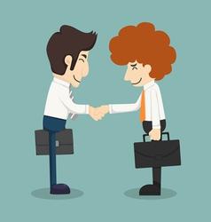 Businessman handshake businessmen making a deal vector