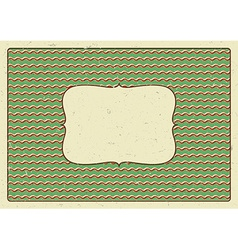 Vintage frame printed on a cardboard vector
