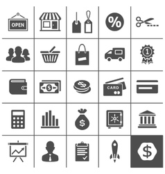 Startup business icons set - simplus series vector