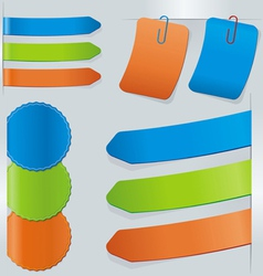 Stick color set vector