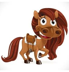 Cute cartoon baby horse vector