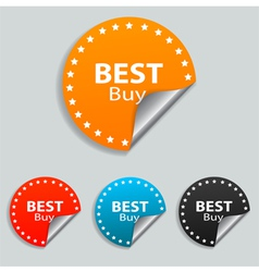 Best buy stickers vector