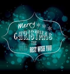 Merry christmas the best wish you light background vector