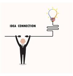 Businessman and creative light bulb vector
