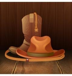 Cowboy symbol poster vector