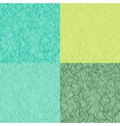 Collection of abstract doodle wavy seamless vector
