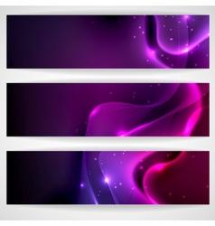 Dark purple abstract banner vector