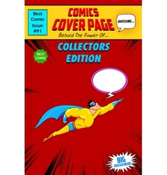 Comic book cover vector