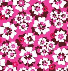 Pink tropical pattern vector