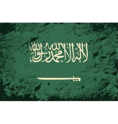 Saudi arabian flag grunge background vector