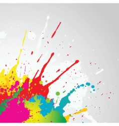 Grunge paint splat vector