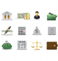 Financial icons vector