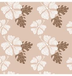 Hibiscus pattern nude vector