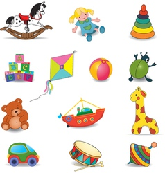 Set of babys toys vector