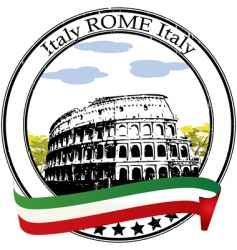 Rome stamp vector