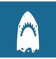 Shark symbol vector