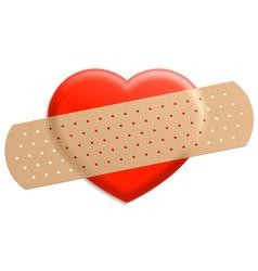 Plaster on heart vector