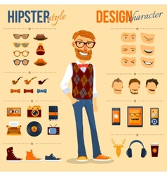 Hipster character pack vector
