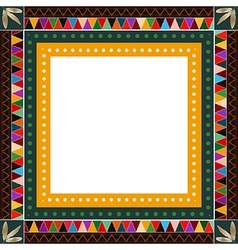 American indian border frame vector
