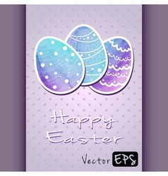 Easter eggs of watercolor texture vector