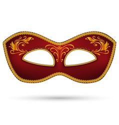 Red mask with golden braid vector