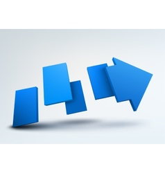 Abstract with 3d arrow and vector