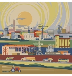 Industrial country vector