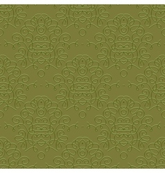 Vintage linear damask pattern with thin lines vector