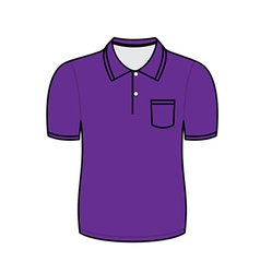 Purple polo shirt outline vector