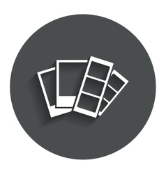 Photo frame template icon strips vector