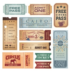 Vintage tickets vector