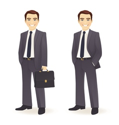 Businessman set vector