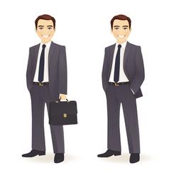 Businessman set vector