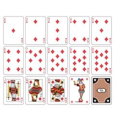 Playing cards diamond suit joker vector